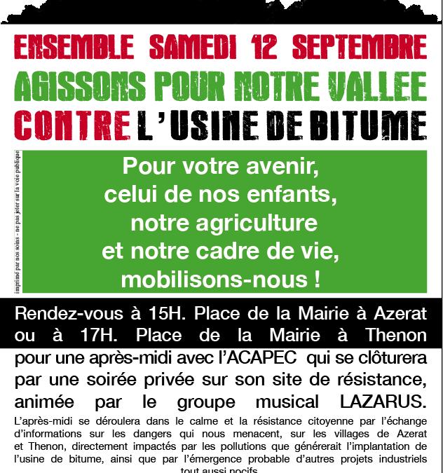 Manifestations pour la défense de l'environnement en Dordogne