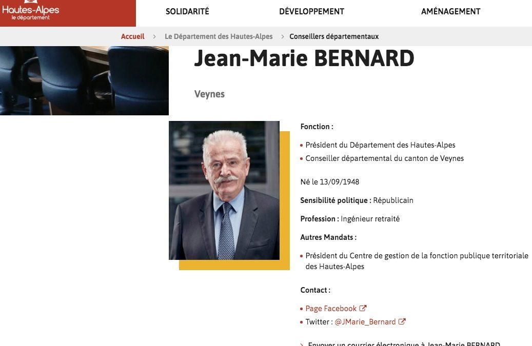 Jean-Marie BERNARD n'en finit plus de faire parler de lui