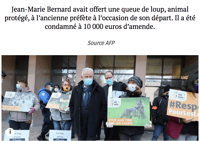 Affaire de la queue de loup : Jean-Marie BERNARD fait appel